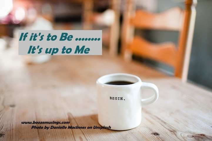 Cup of coffee on table, a reminder to get started on BOOM, a Sobriety community