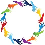 Circle of hands, illustrating a stop drinking community