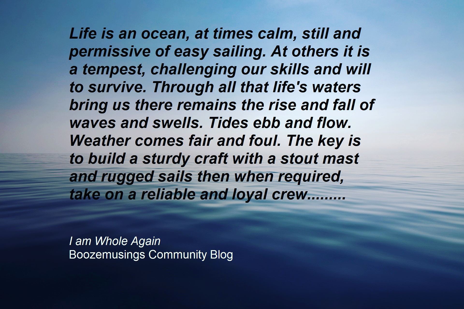 quote on sea