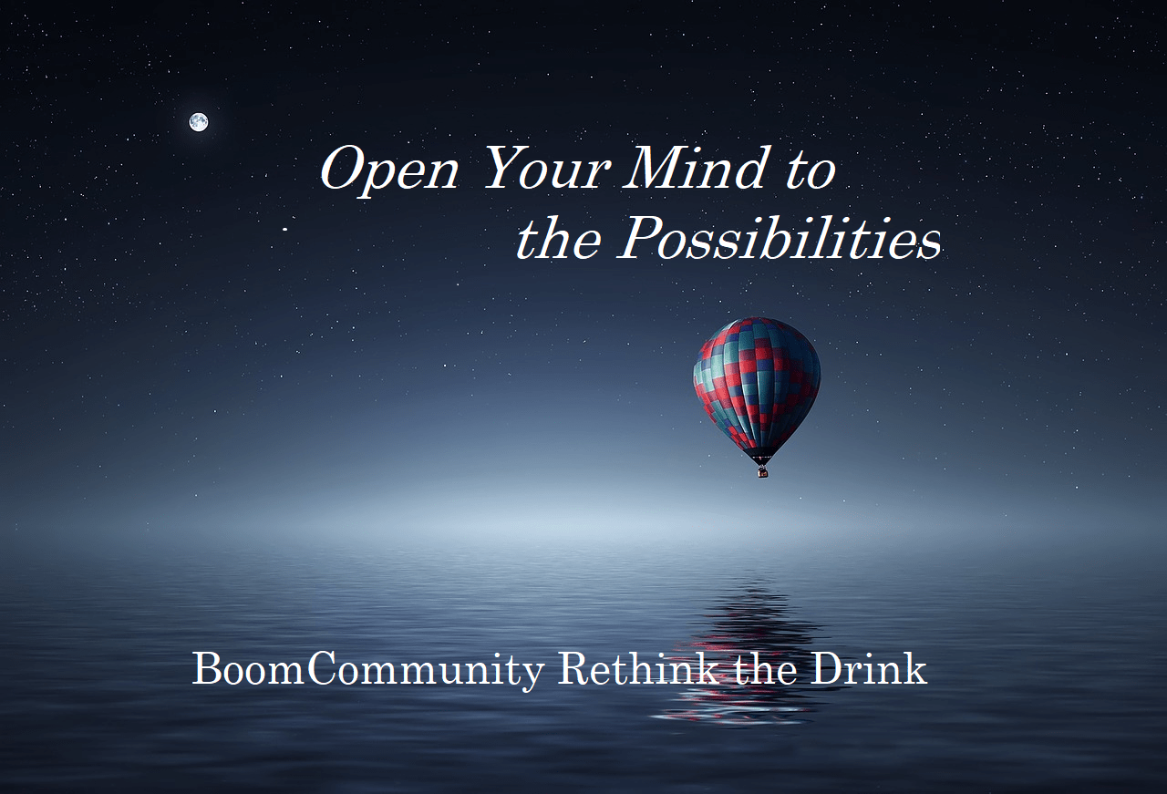 Balloon flying over the ocean, inspiration to Open Your Mind to the Possibilities of living alcohol free -  Rethink the Drink