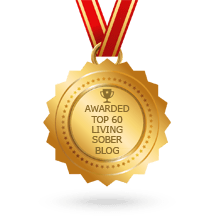 badge for Top Sober alcohol free Living Blogs