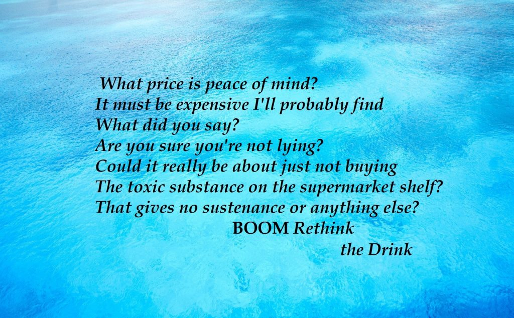 Peace of Mind Boom Rethink the Drink