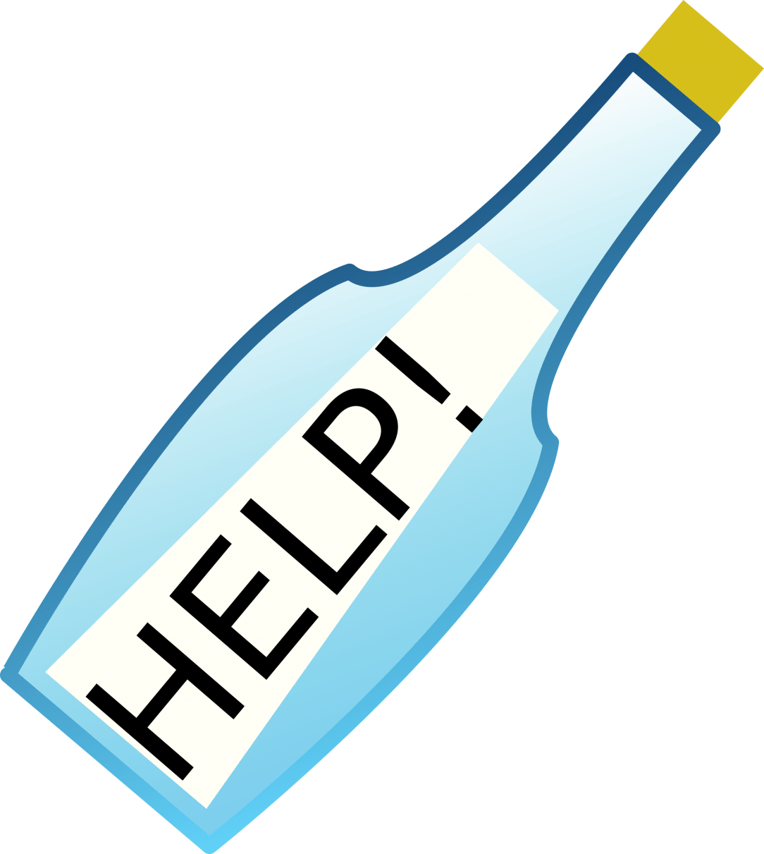 Help! to Stop Drinking , Message in a bottle