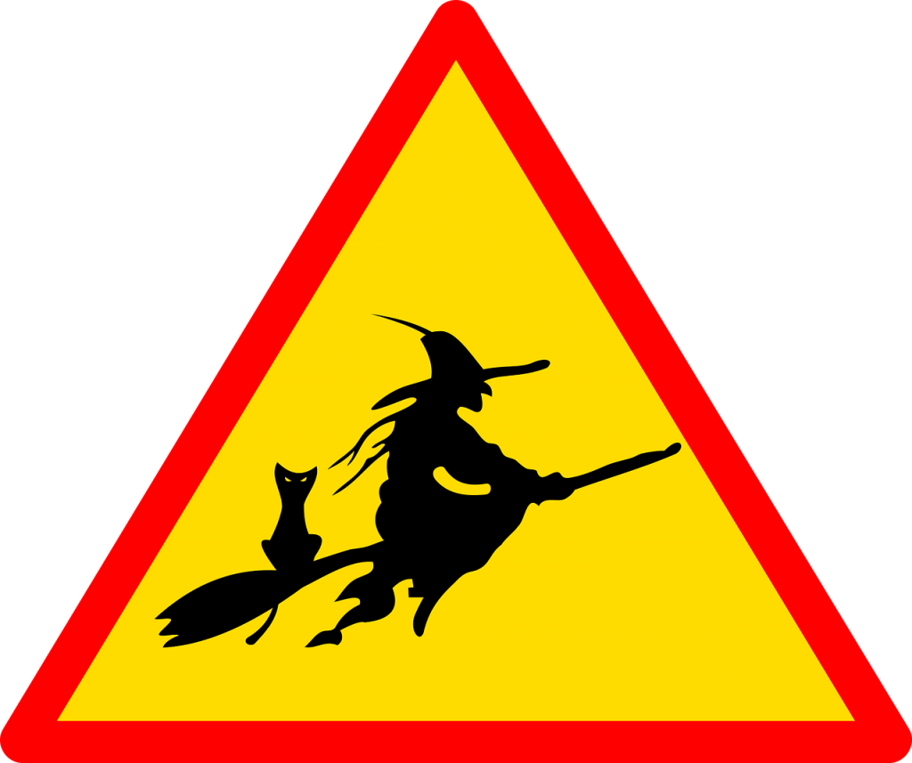 Yield witch sign