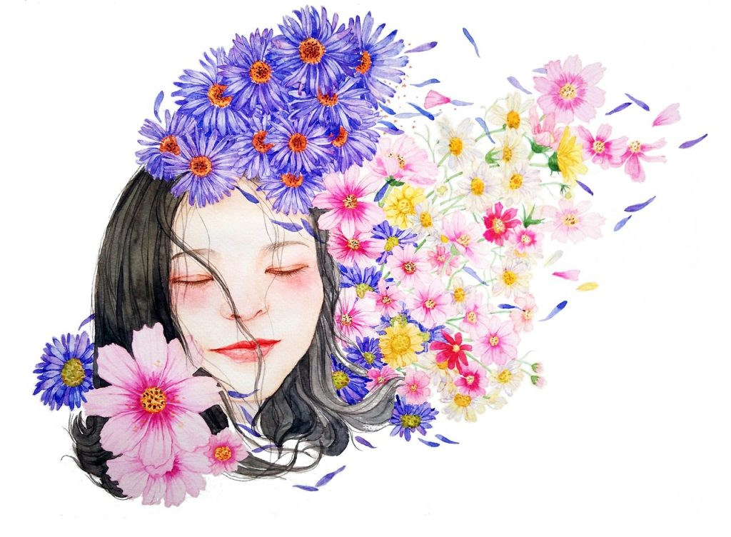Sobriety - Woman with flowers