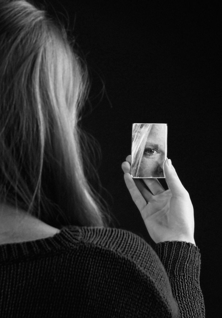 Looking in a mirror- Regain your self respect go alcohol free Join us for Sober October