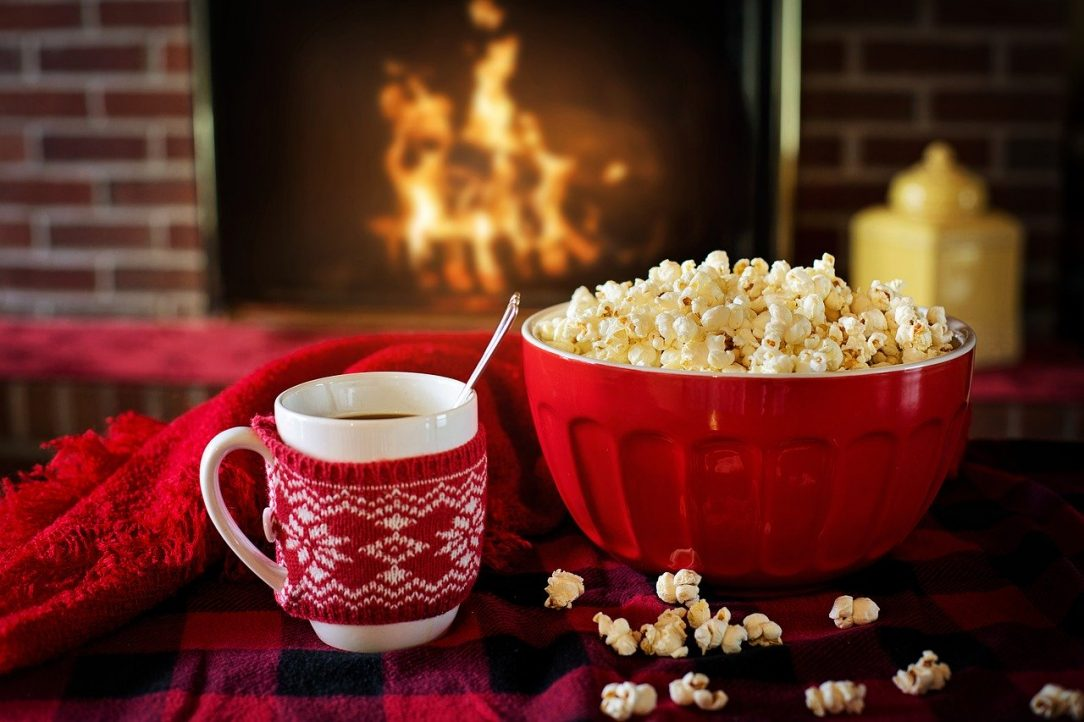 Hot Chocolate and popcorn Alcohol-free Holiday Gift Ideas