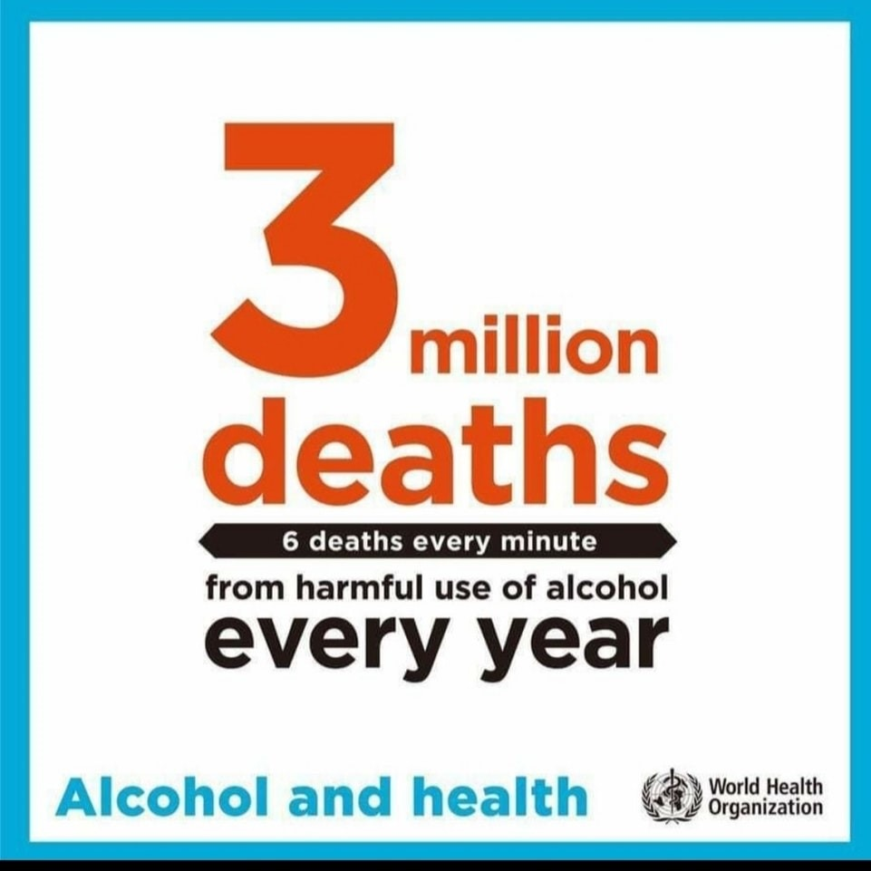 3 million alcohol related deaths a year