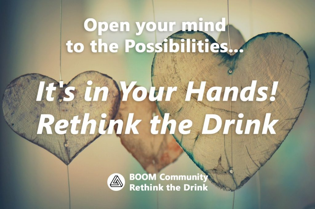 Boom Community Rethink the Drink Support to stop Drinking