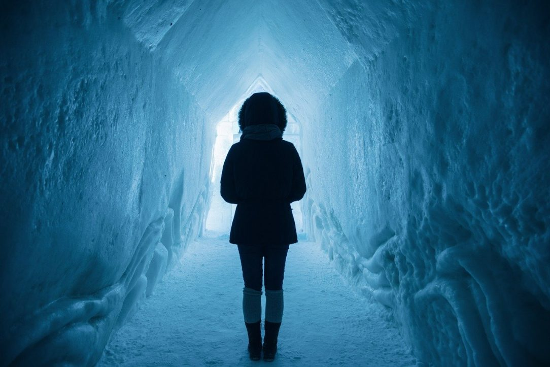 Woman at Mouth of Tunnel - The only Way out is through at Seven Months sober