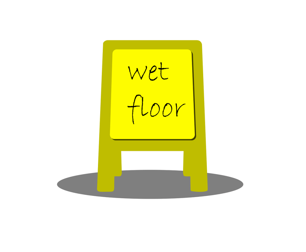 Wet Floor Sign - Stay sober don't slip