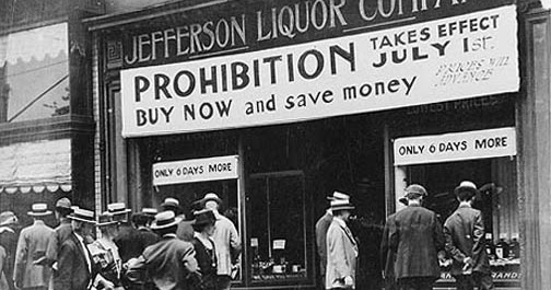 Prohibition- the opposite of Covid19 Alcohol Essential