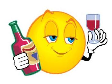 Wine drinking emoji- alcohol the wonder drug