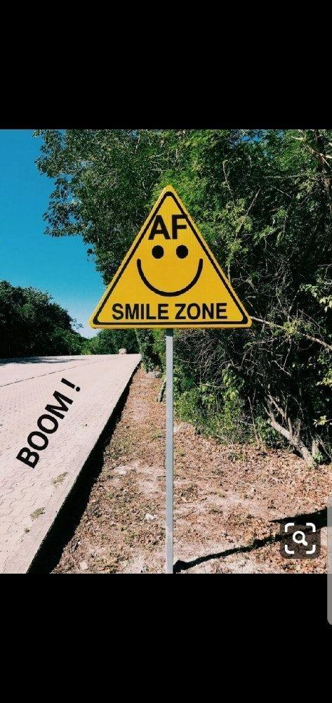 AF smile Zone Street sign Dry July 202 day 10 alcohol free inspiration