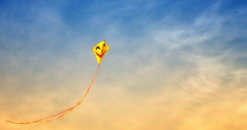 Happy Kite in sky Alcohol-free is Dry July 2020 Day 12 Inspiration
