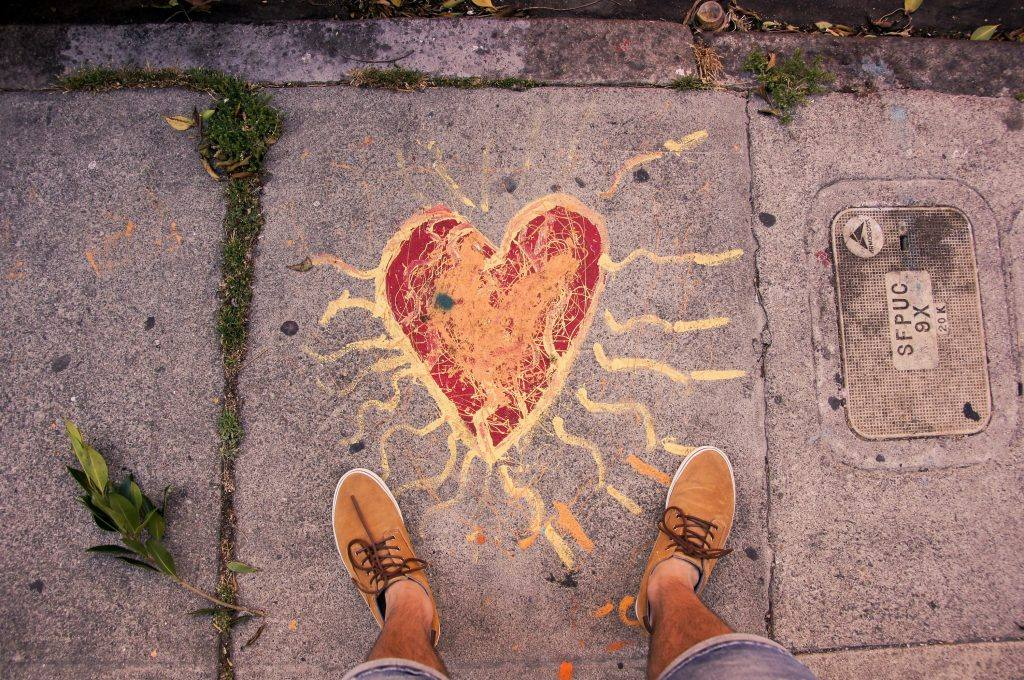 Heart drawn on sidewalk How do you stop drinking and stay sober with a partner who drinks