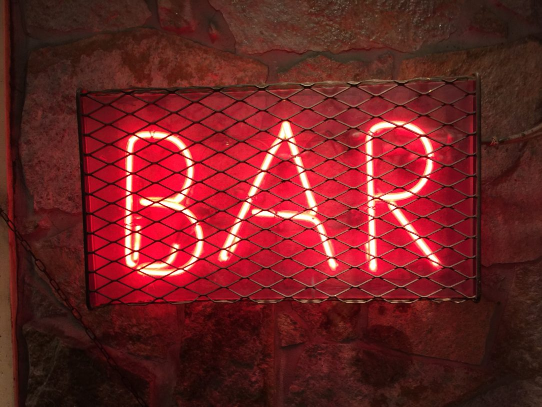 Neon Bar sign - The importance of alcohol