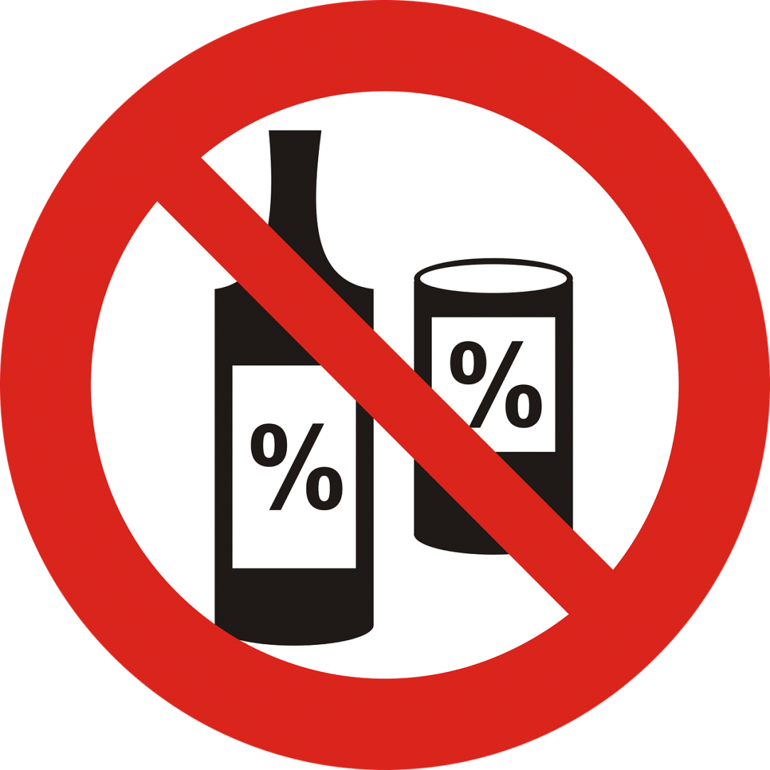 Alcohol-Free sign How Do You Tell People You Are Not Drinking? Dry July 2020 - Day 16 Alcohol-Free Inspiration