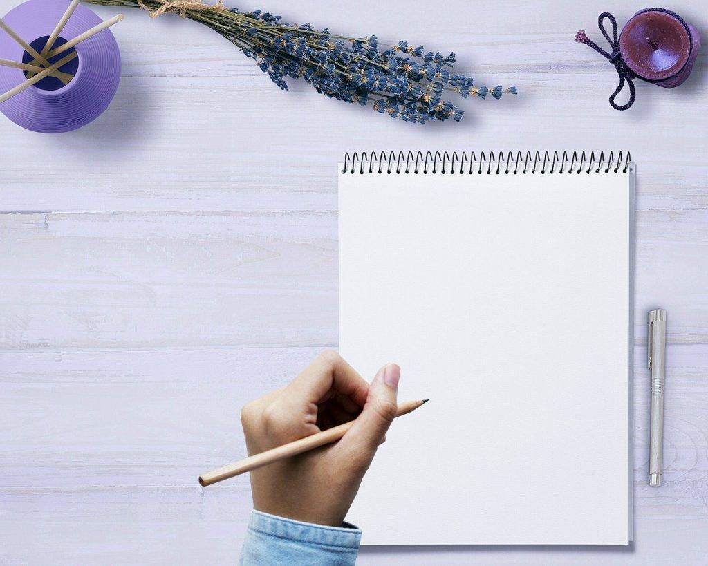 Writing a list on Day 2 sober