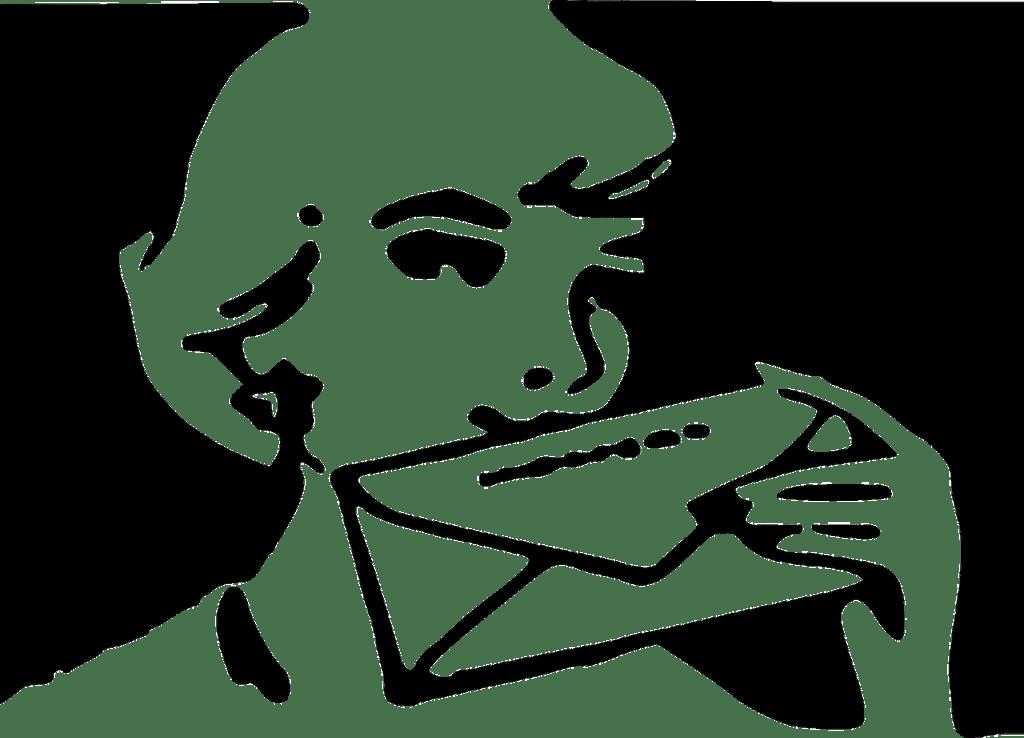 Woman sealing letter Dear Sauvignon Blanc - Dear alcohol Good Bye