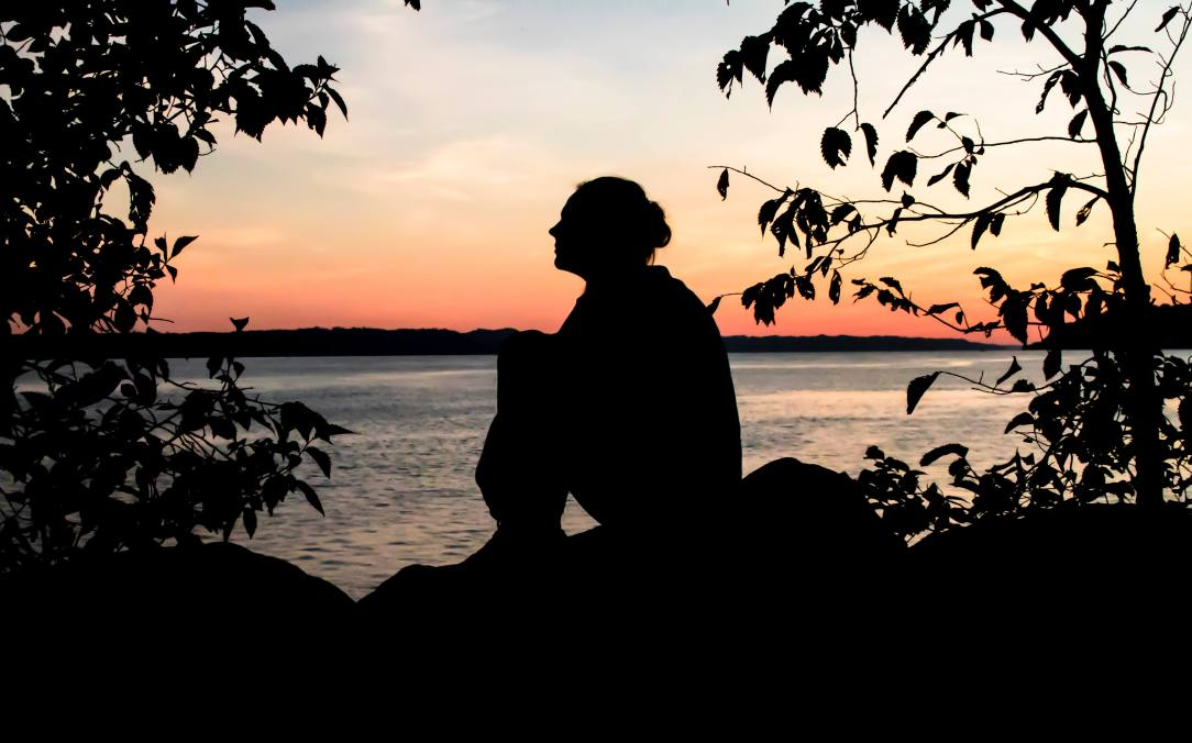 Woman at dusk How I escaped the Trap of Gray area drinking