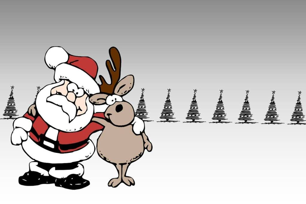 Santa and Reindeer Christmas 2020 Sober