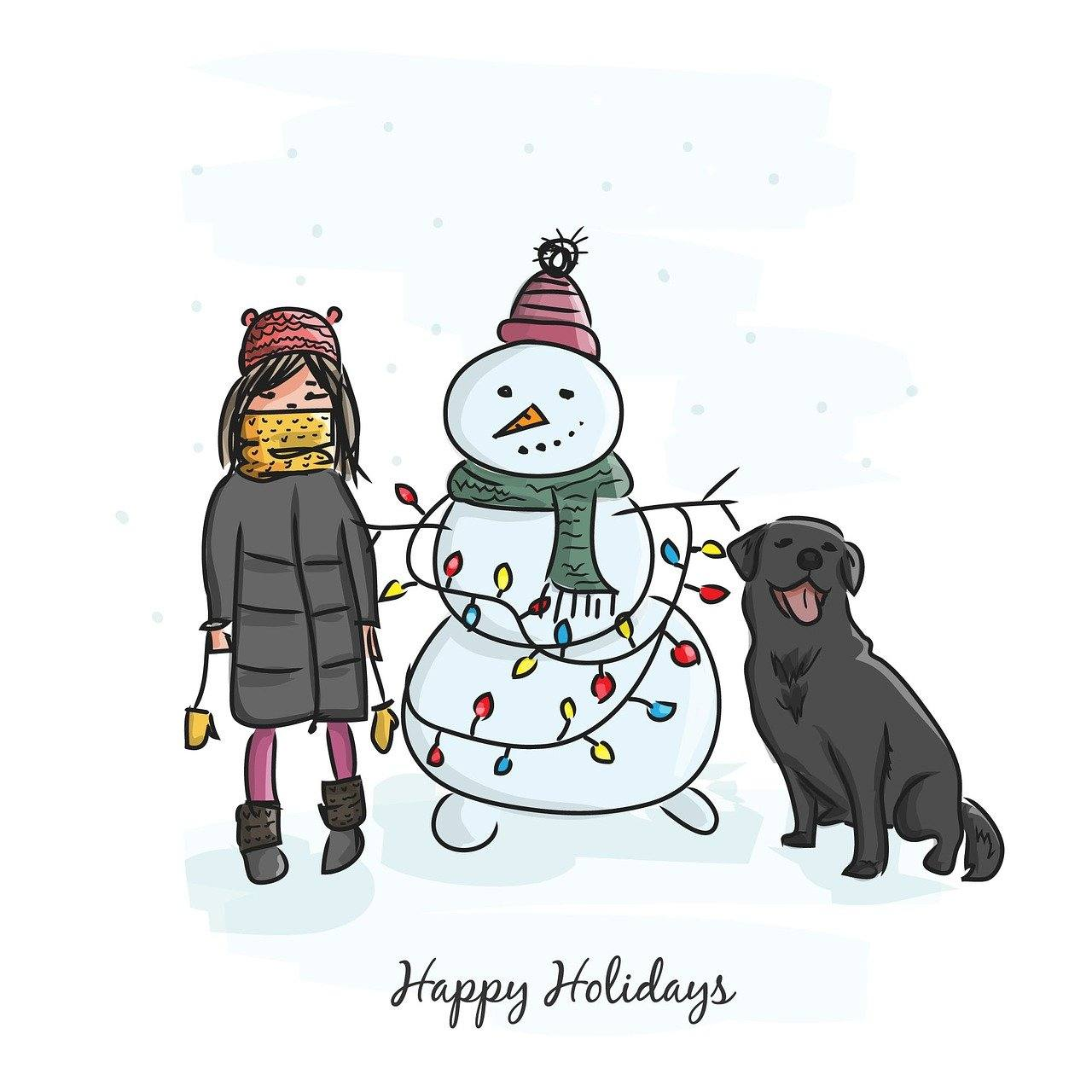 Snowman sober holiday season