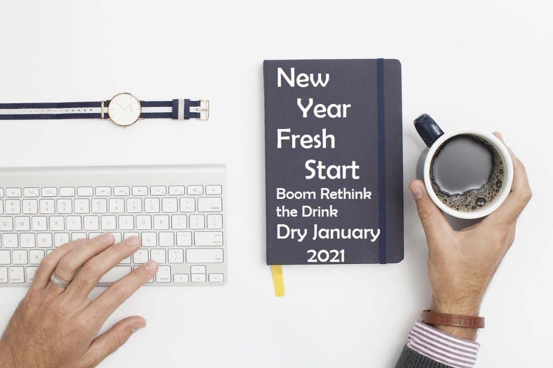 Dry January 2021 New Year Fresh Start Boom Rethink the Drink