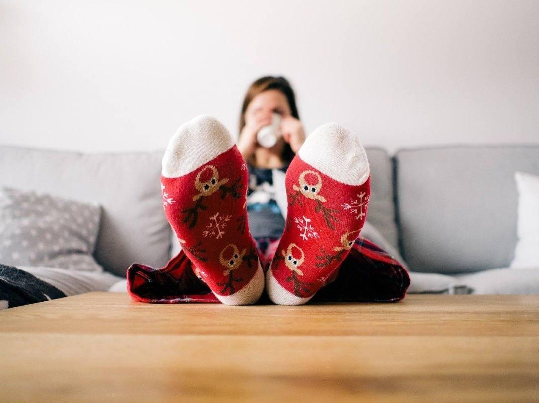 Christmkas socks sober lonley alcohol-free holiday season