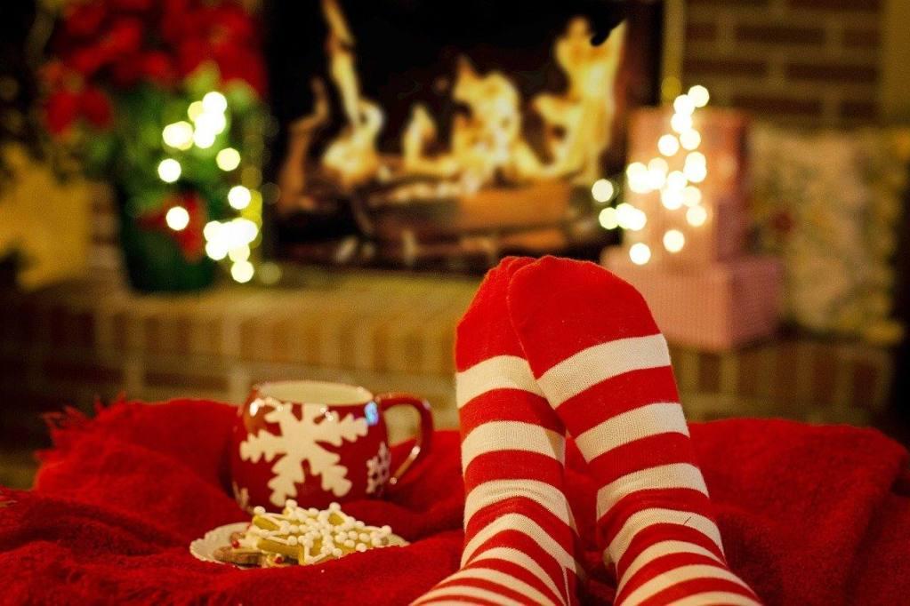 Christmas socks sober lonely alcohol free holiday season