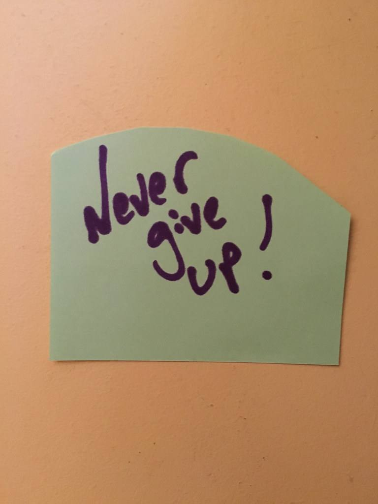Never Give Up the Trick to quit drinking is to never quit quitting
