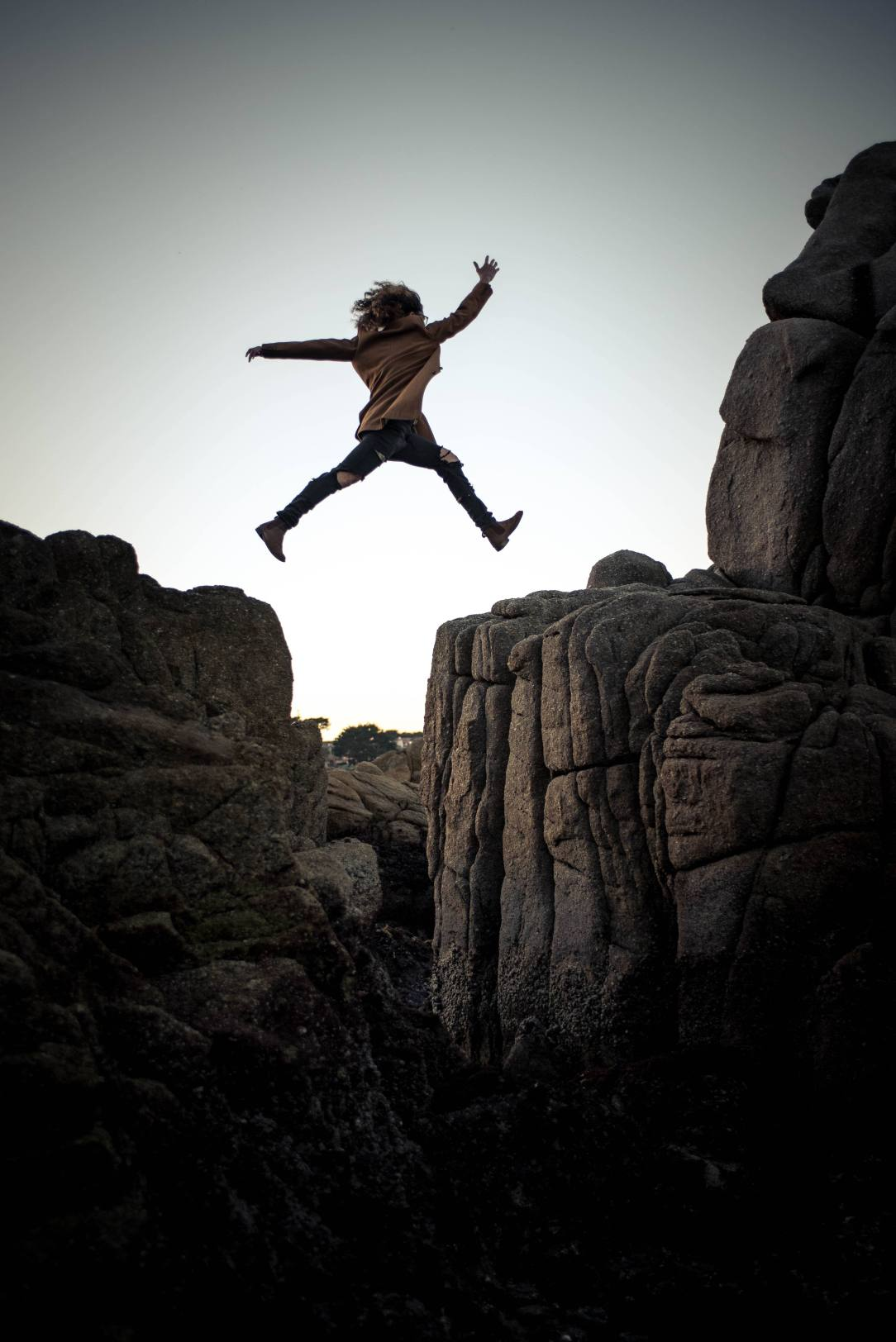 Woman Jumping -sober courage