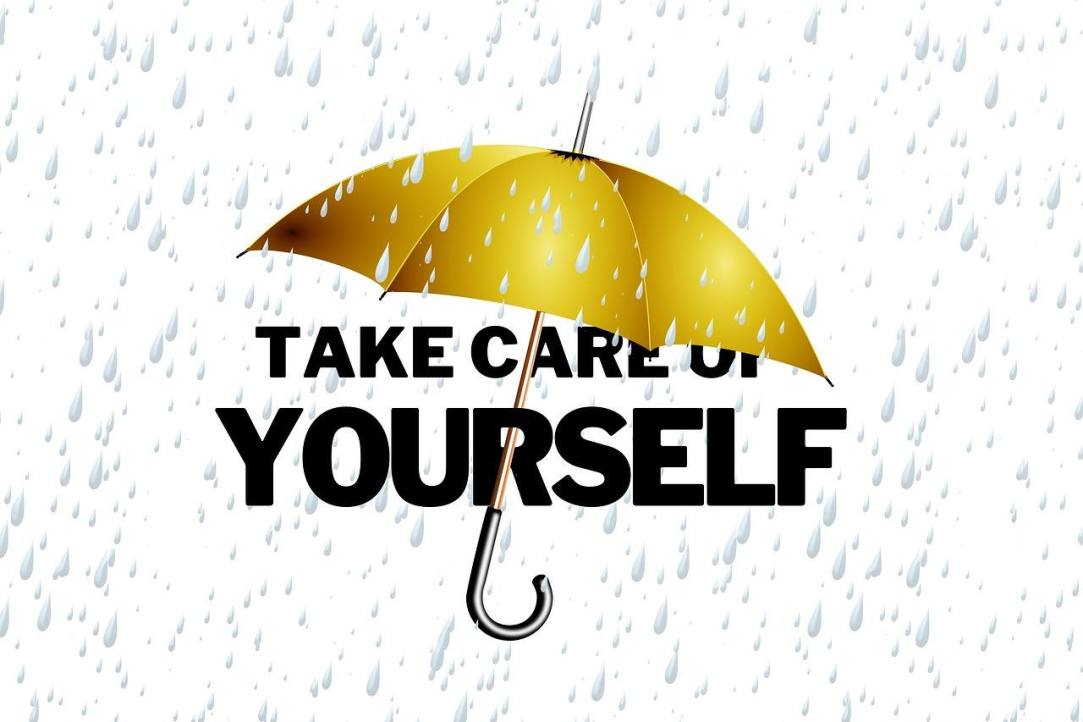 Golden Umbrella Learning Self Care in your first 100 days alcohol-free