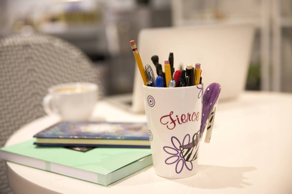 Pencils, pens and paper to write A-Z of first 100 days alcohol-free