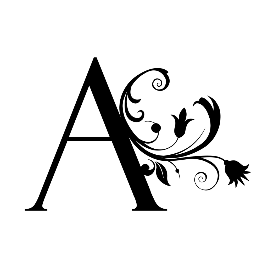 Letter A for Alcohol Awareness Month and Alcohol Free April