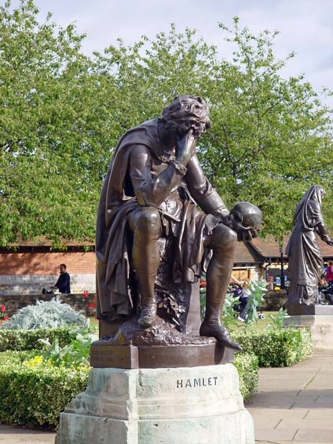 To Drink or Not to Drink Hamlet Statue