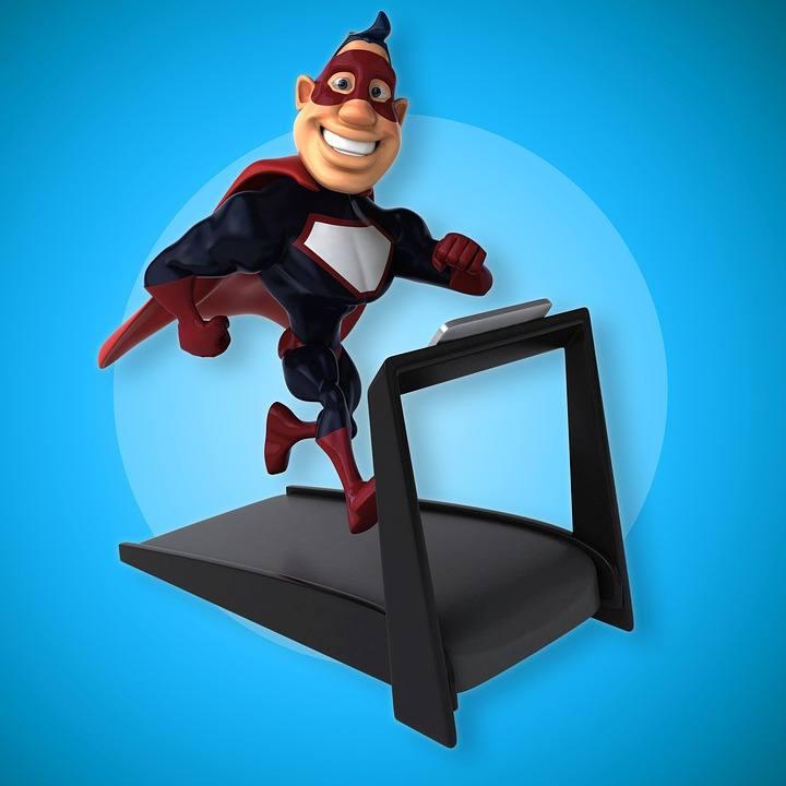 Sober super Hero quit drinking and running on treadmill