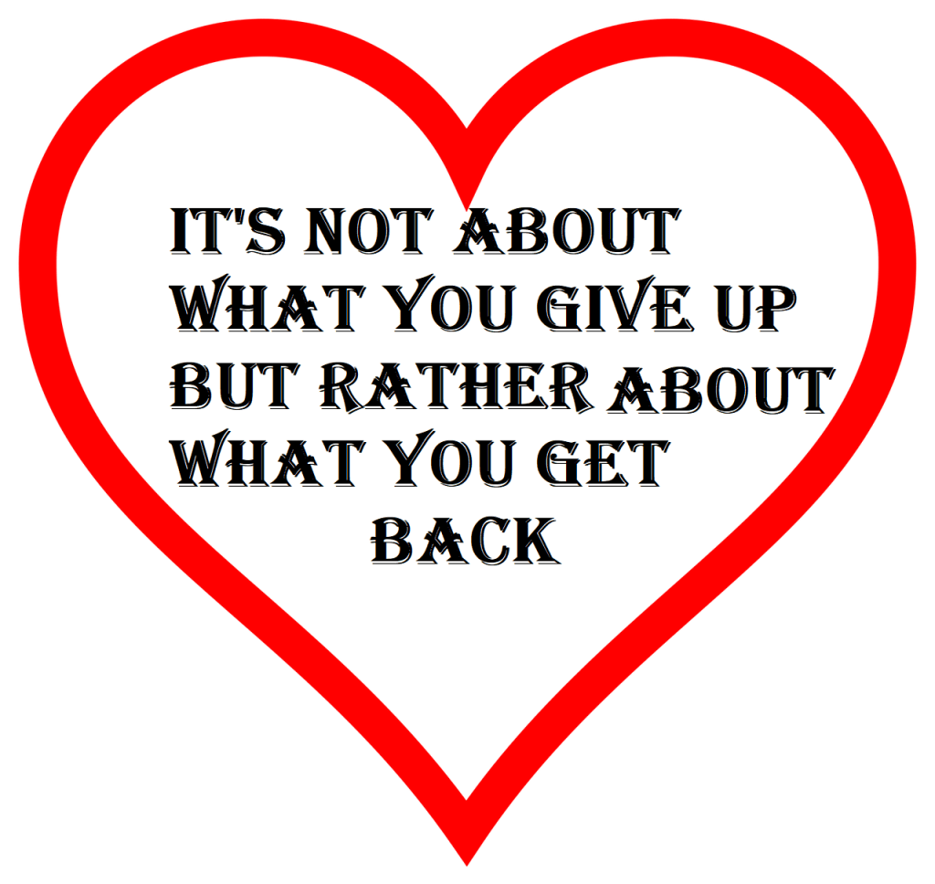 It's not about what you give up but rather what you get back - is your relationship with alcohol abusive