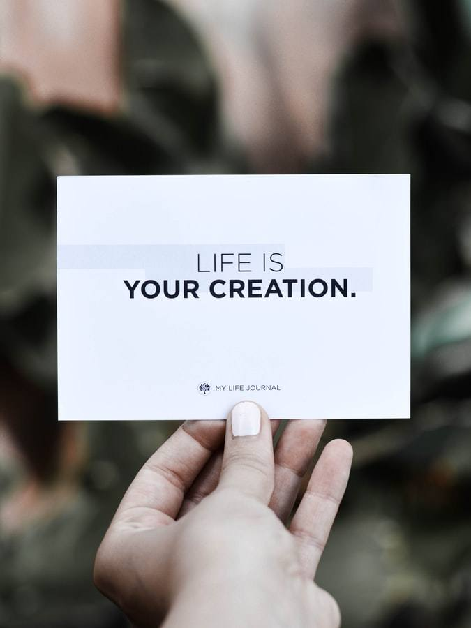 Sober Pink Cloud Quote- Life is your Creation