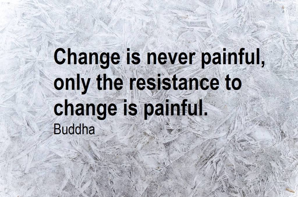 Change is never painful. Only Resistance to change is painful- Thawing out the fear of going sober